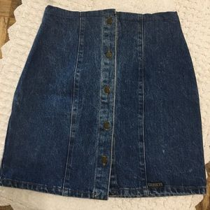 Vintage Guess denim high waisted mini skirt